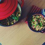 Kasza bulgur z ciecierzycą i warzywami